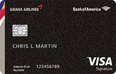 Bank of America Asiana Visa Signature