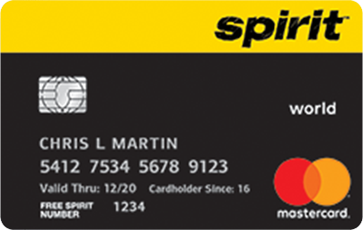 Bank of America Spirit Airlines World MasterCard